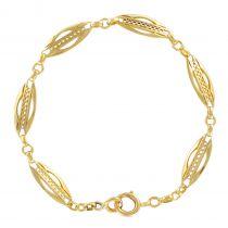 Bracelet gourmette ancienne or