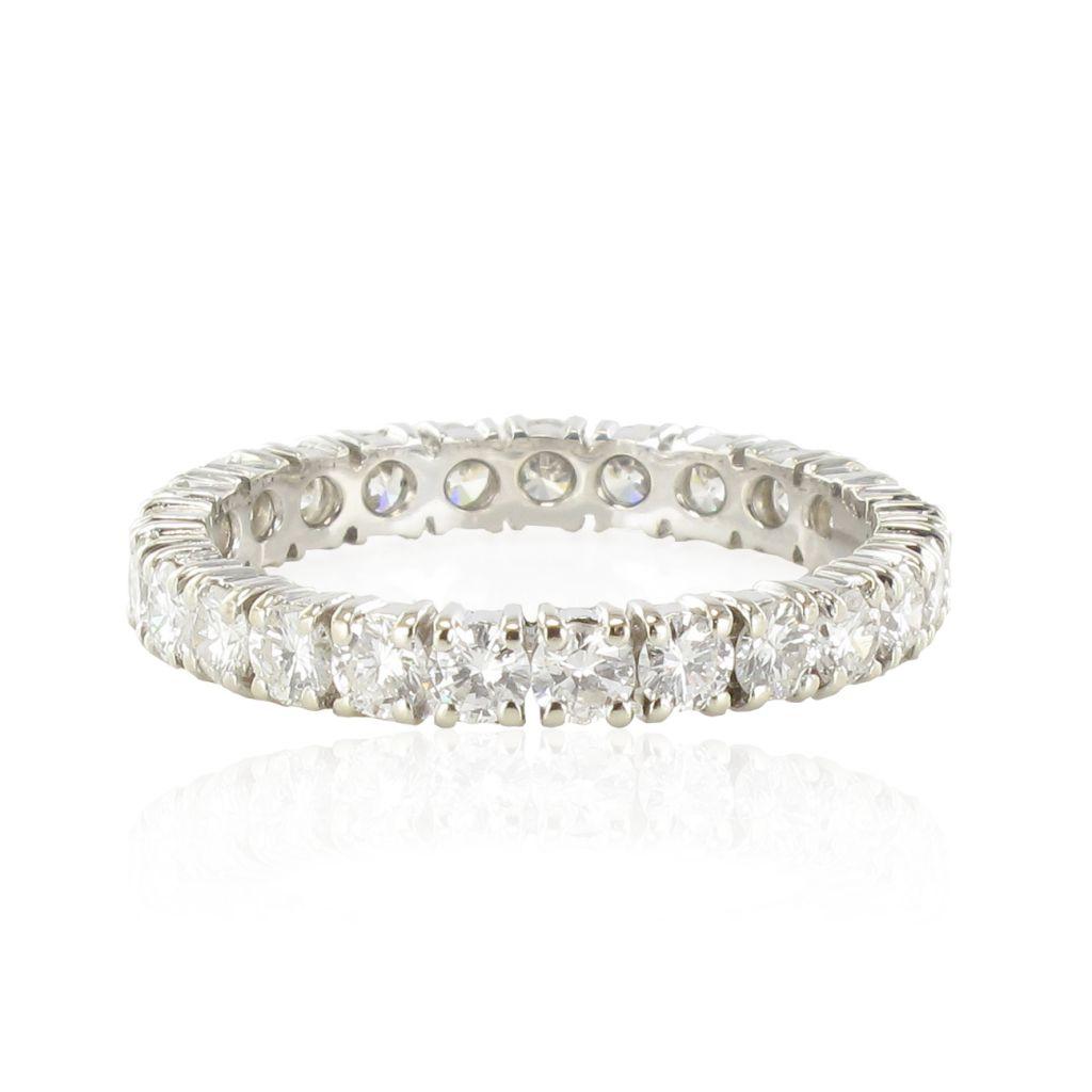 Alliance en diamants or blanc