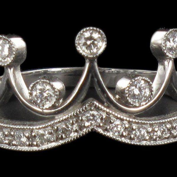 Bague Diamants Couronne