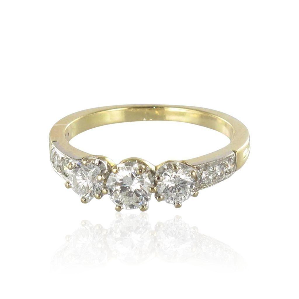 Bague diamants jarretière