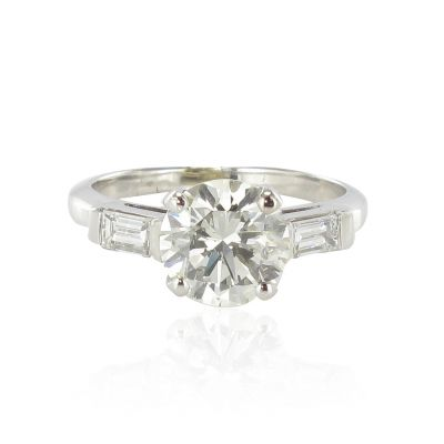 Bague-diamant-diamants-baguettes-Or-blanc-18K-Contemporain-Ring