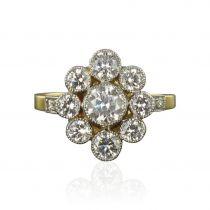 Bague marguerite diamants revisitée
