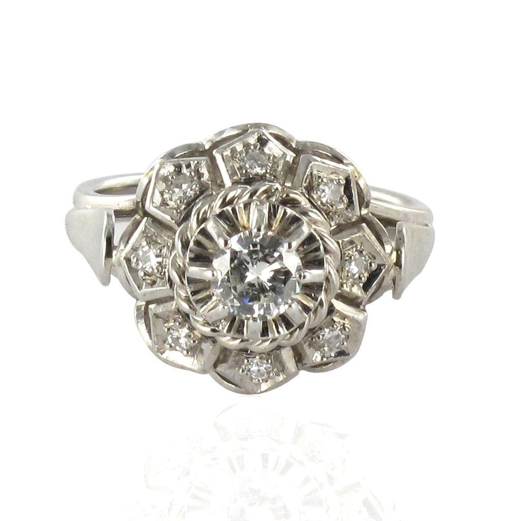 bague or blanc diamants art d co bijoux diamant. Black Bedroom Furniture Sets. Home Design Ideas