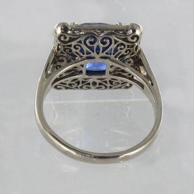 Anillo-Zafiro-Ceilan-Diamantes-Arte-decoracion-Oro-blanco-18K
