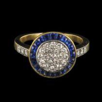 Bague saphirs et diamants 1107Nouveautés