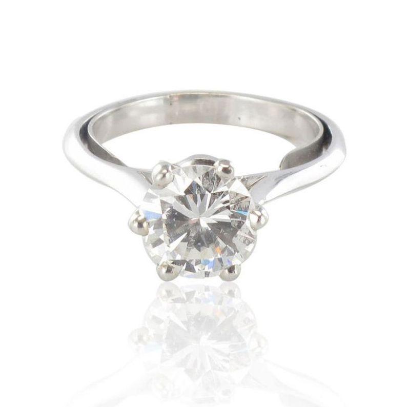 Bague solitaire femme diamant