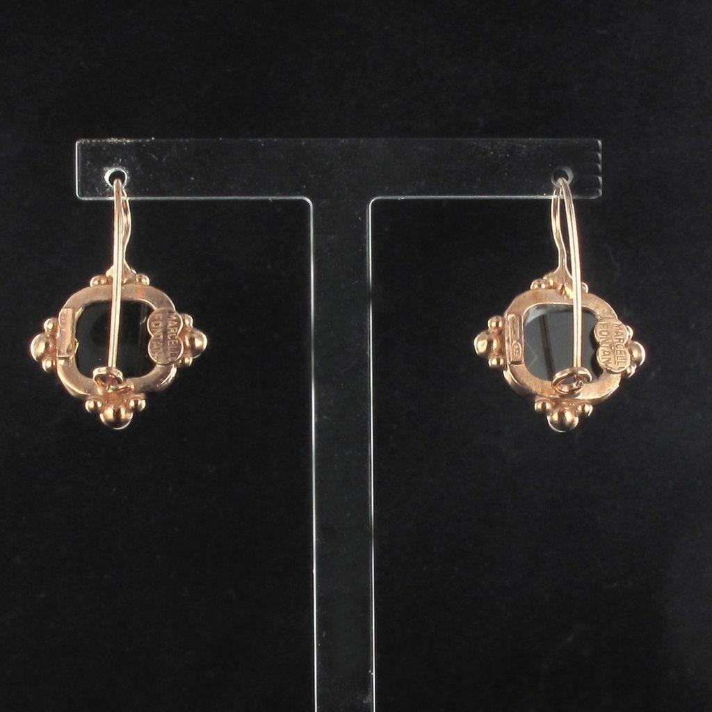 Boucles d 'oreilles cristal et perles