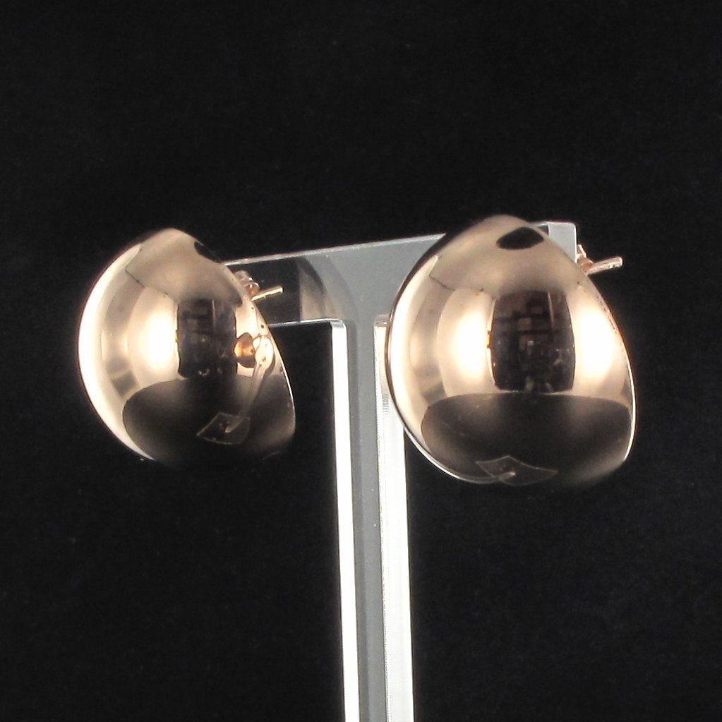Boucles d 'oreilles demi sphère XXL