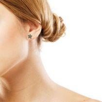 Boucles d 'oreilles Fleur Diamants