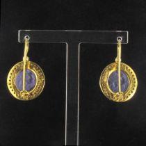 Boucles d 'oreilles intailles et cristaux