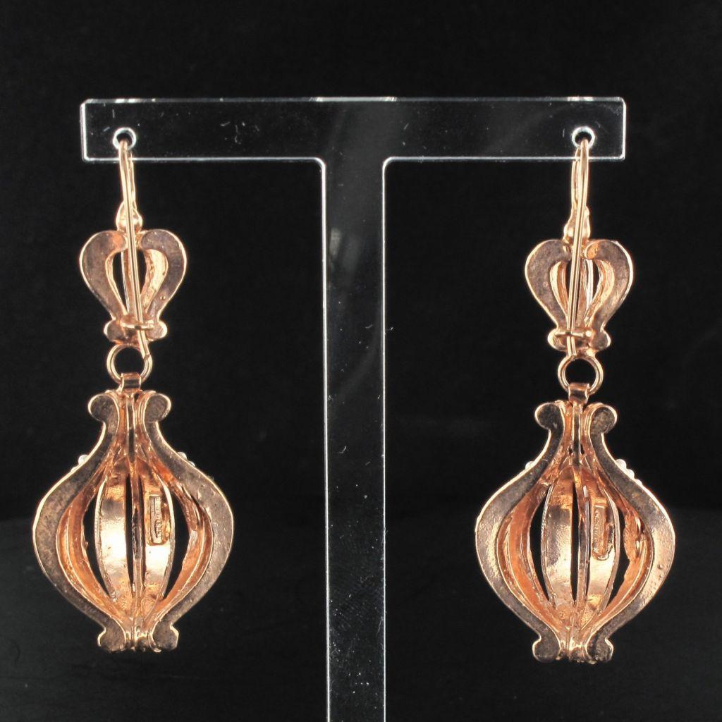 Boucles d 'oreilles pendantes ajourées
