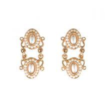 Boucles d 'oreilles perles ovales