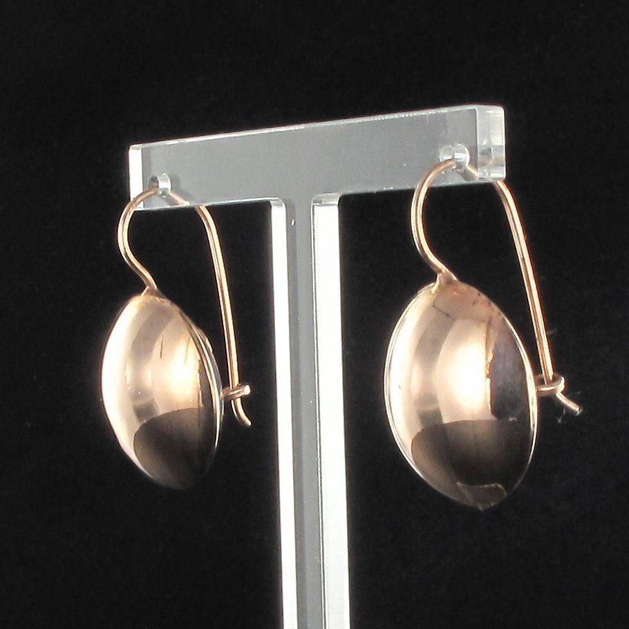 Boucles d 'oreilles perles plates