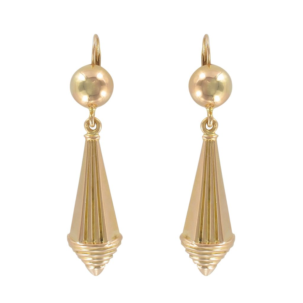 Boucles d\'oreilles pendantes or anciennes