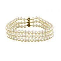 Bracelet 3 rangs de perles