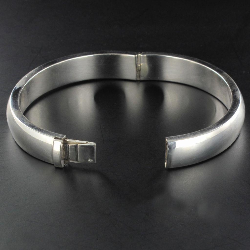 Bracelet demi-jonc argent 0.5 cm