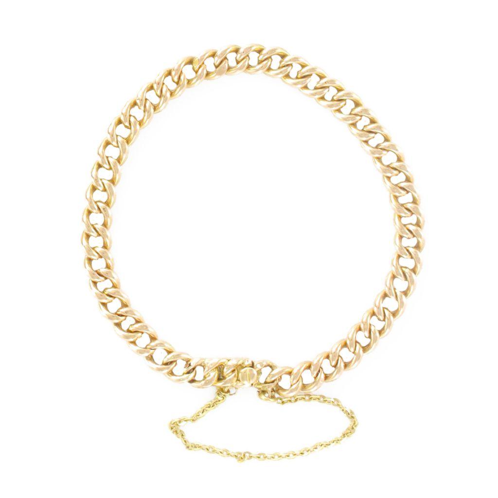 Bracelet gourmette en or rose