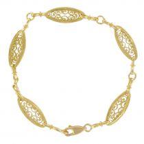 Bracelet jaune maille filigranée or jaune