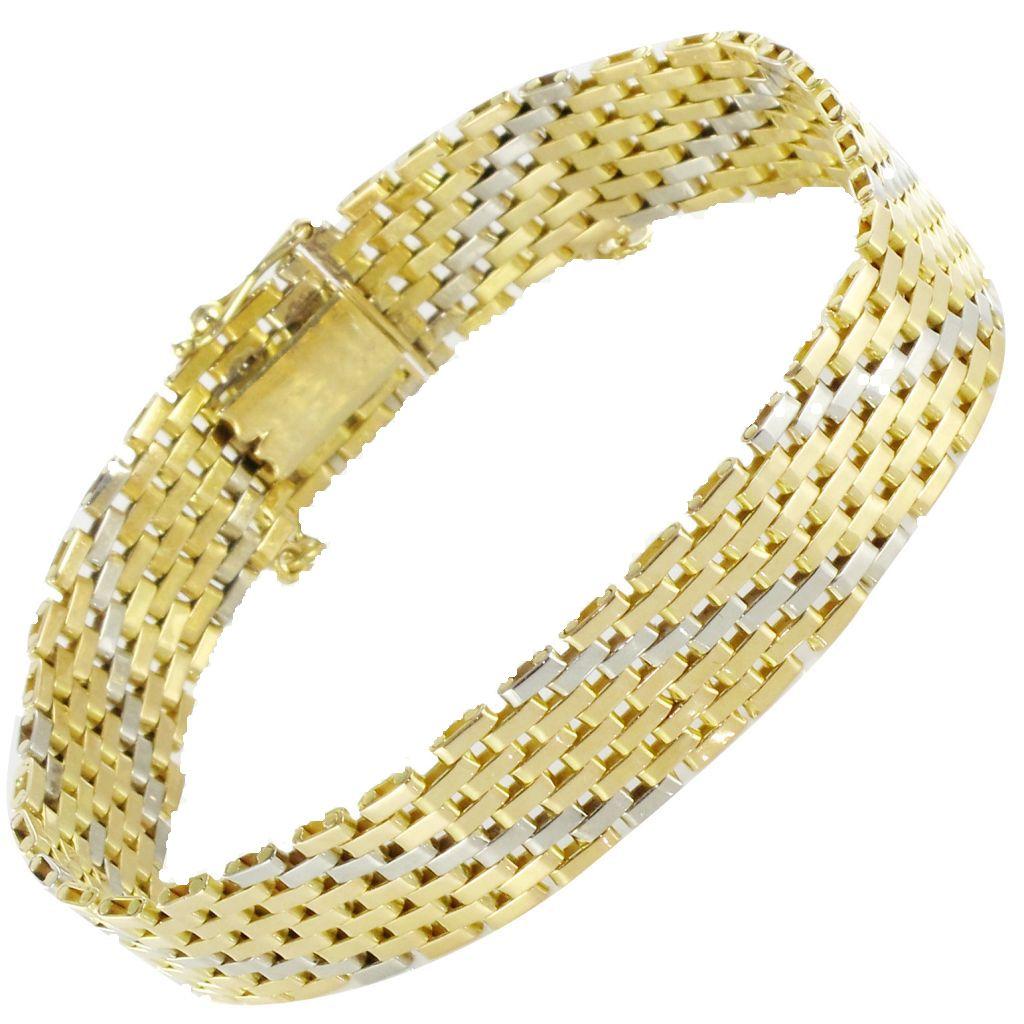 bracelet or jaune or blanc ruban bracelet ancien ors. Black Bedroom Furniture Sets. Home Design Ideas