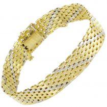 Bracelet Or jaune Or blanc ruban