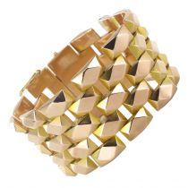 Bracelet vintage géométrique or rose