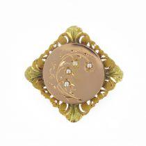 Broche ancienne de col Perles fines