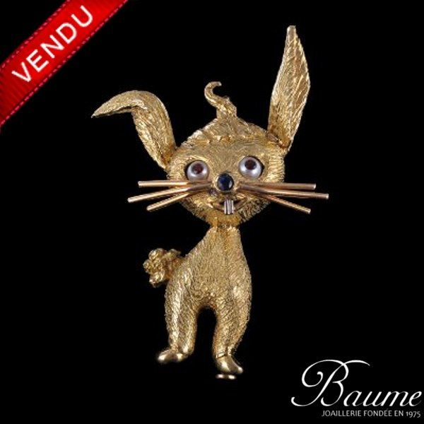 Broche ancienne Or Lapin