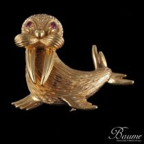 Broche ancienne Or Morse