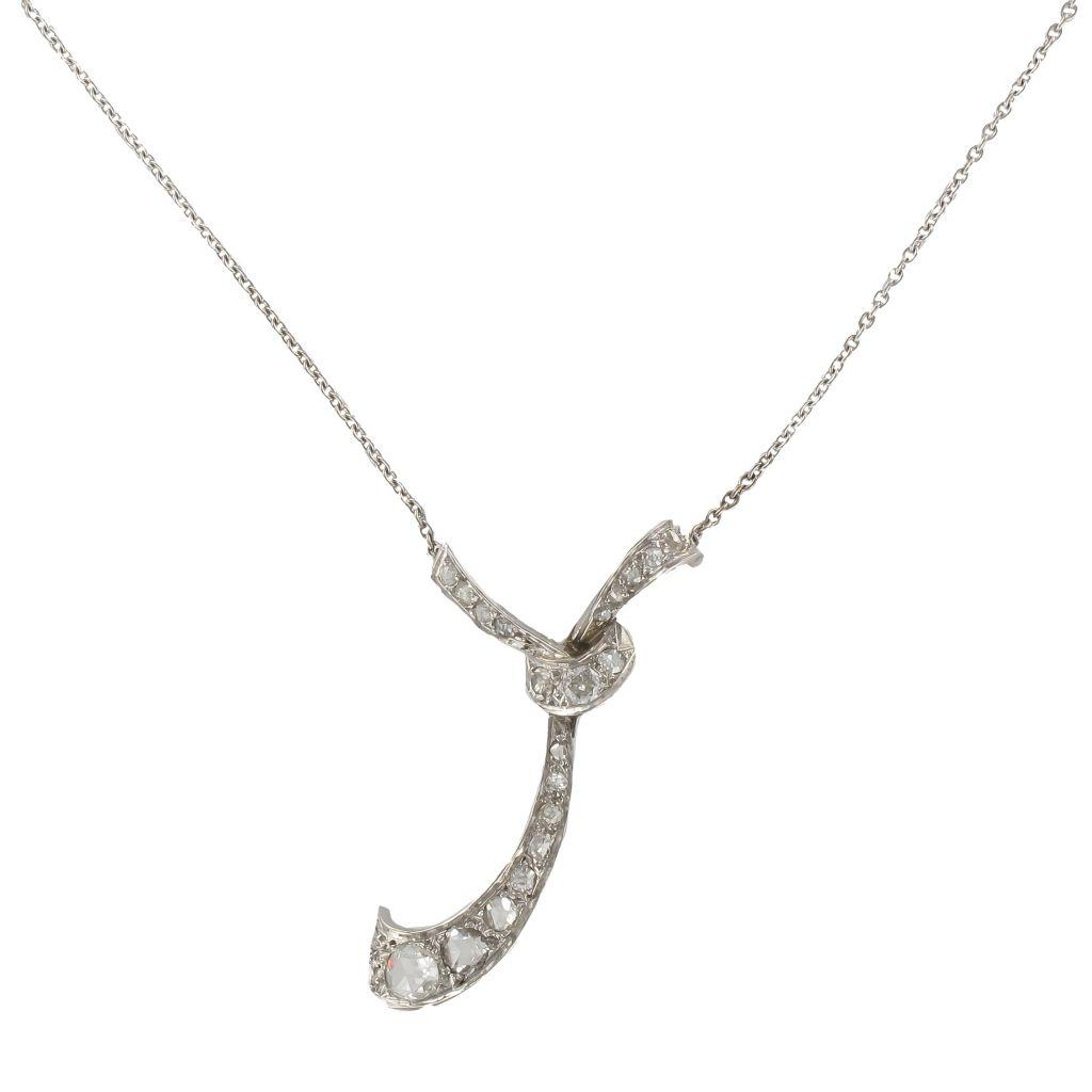 Collier ancien Cravate de diamants