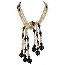 Collier Perles et Onyx