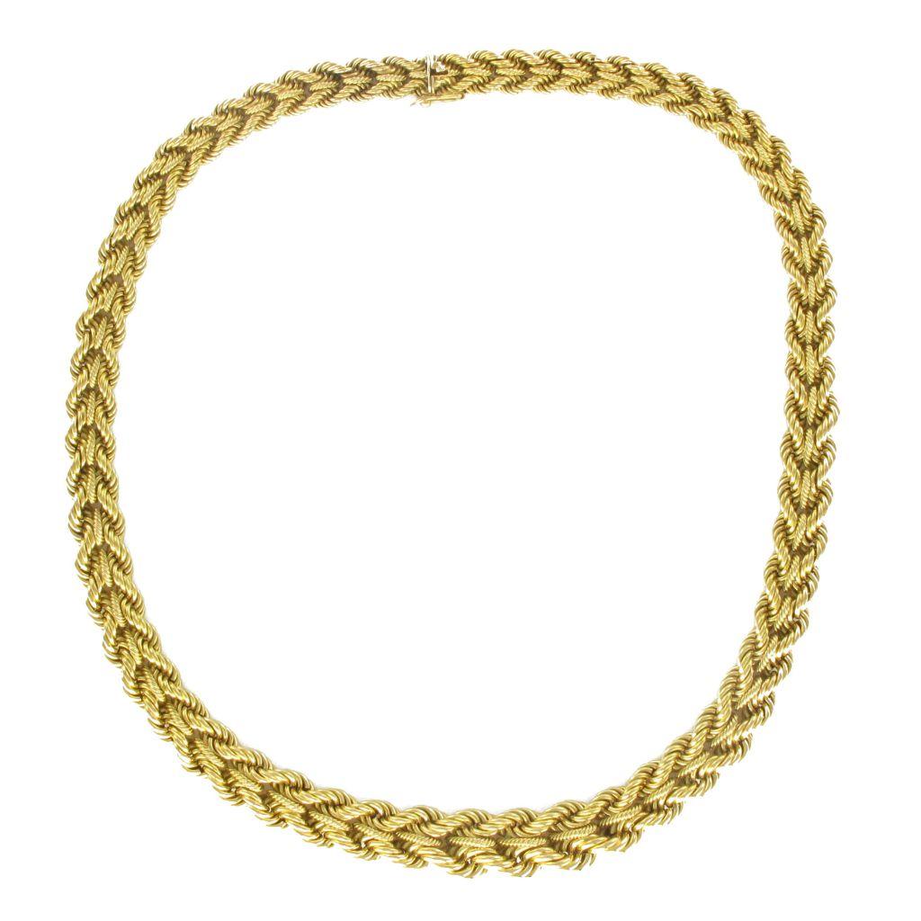 Collier torsadé en or