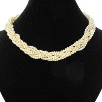 Collier tresse de perles