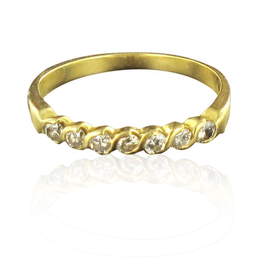 demi alliance or jaune diamants bague mariage bijouxbaume