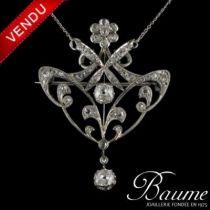 Pendentif - Broche Diamants