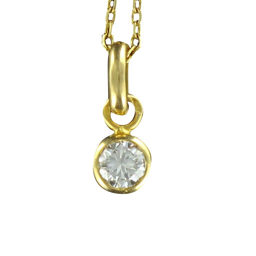 Pendentif diamant serti clos