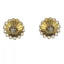 Puces d 'oreilles vintage diamant