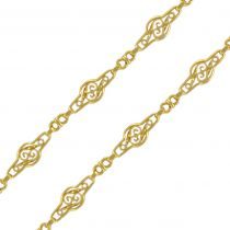 Sautoir ancien en or motif filigrané