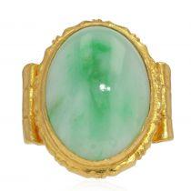 Bague or et jade ancienne