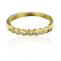 Demi alliance or jaune diamants