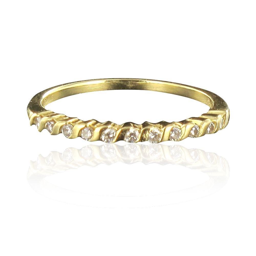 demi alliance diamants or jaune bijouxbaume. Black Bedroom Furniture Sets. Home Design Ideas