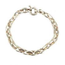 Modern sterling silver gourmette bracelet