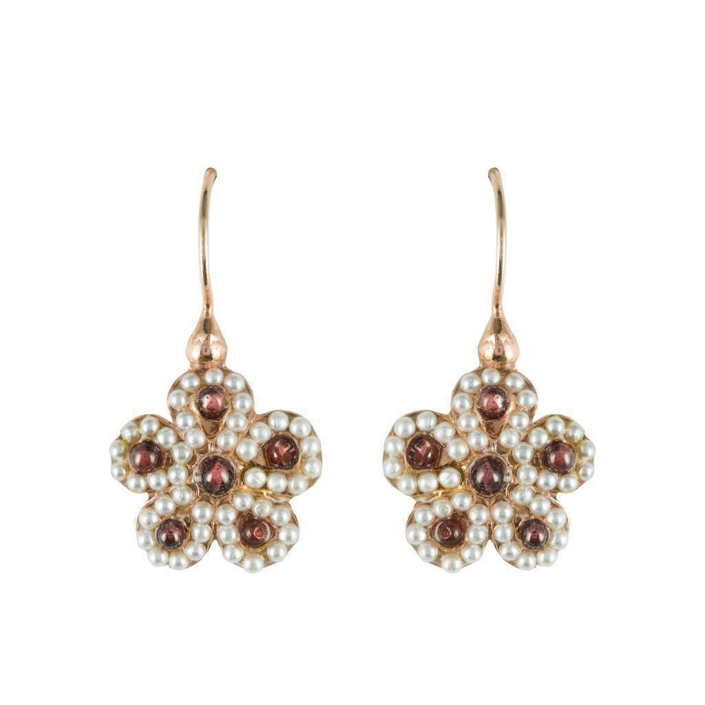 Boucles d'oreilles or argent perles
