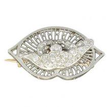 1930s Boucheron Diamond Platinum Brooch