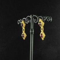 Boucles d'oreilles Etrusques pendantes