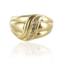 Modern Second Hand Diamonds Gold Ring