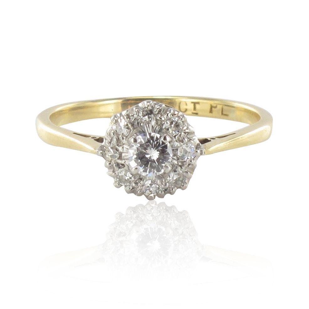 Bague marguerite diamants brillants