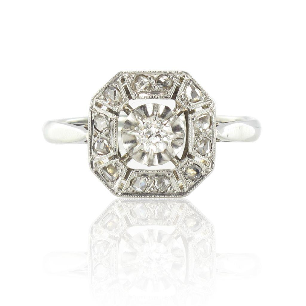 bague diamant art deco ancienne