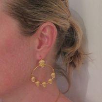 Boucles d'oreilles créoles masques