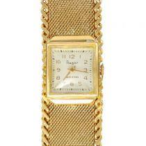 Flamor Ladies Yellow Gold Manual Wind Wristwatch