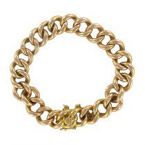 1960's Gourmette mesh rose gold bracelet